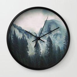 Cross Mountains II Wall Clock