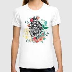 Secret Garden - Magic White LARGE Womens Fitted Tee