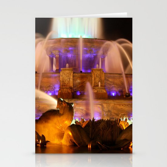 Buckingham Fountain at Night Stationery Cards