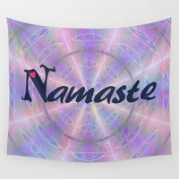 namaste Wall Tapestries featuring Namaste by Stay Inspired