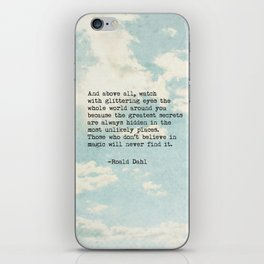 Roald Dahl Glittering Eyes iPhone Skin