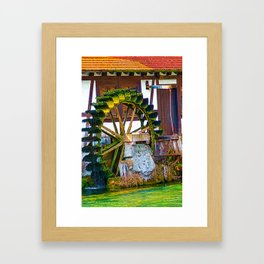 Waterwheel - it turn´s and turn´s Framed Art Print