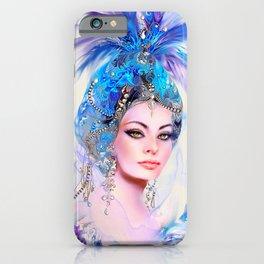 Diva in Blue iPhone Case