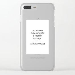 Stoic Philosophy Quote - Marcus Aurelius - The Best Revenge Clear iPhone Case