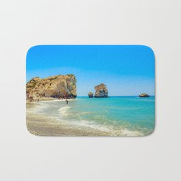 Cyprus Beach Scene Bath Mat