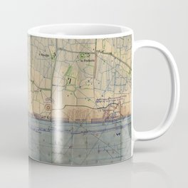 Vintage Utah Beach D-Day Invasion Map (1944) Coffee Mug