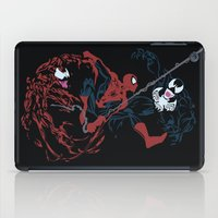 carnage iPad Cases featuring Spider-man - Carnage VS Spidey VS Venom by TracingHorses