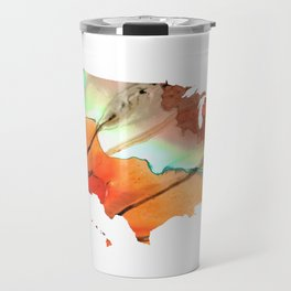 Colorful Map of The United States Of America 28 - Sharon Cummings Travel Mug