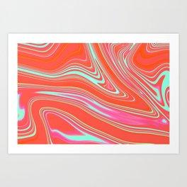 Orange Marble texture Art Print