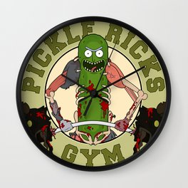 Pickle Rick's Gym Wall Clock