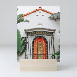 Spanish-Style Fountain . Santa Barbara, California Mini Art Print