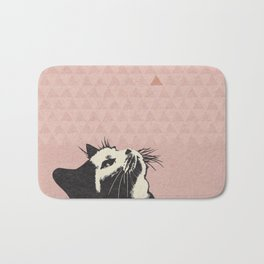 Cat on Pink - Lo Lah Studio Bath Mat