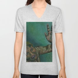 Dim, through the misty panesand thick green light,  As under a green sea, I saw him drowning.  Unisex V-Neck