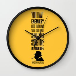 Lab No. 4 - Winston Churchill Inspirational Quotes Poster Wall Clock
