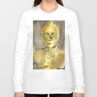 c3po Long Sleeve T-shirts featuring C3PO by Johannes Vick