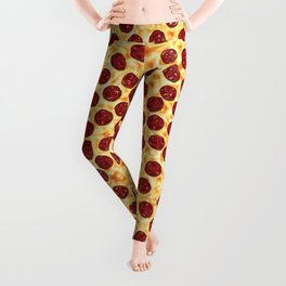Pepperoni Pizza Pattern Leggings