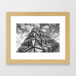 The Architectural Cladding from Leeds University Car Park Framed Art Print