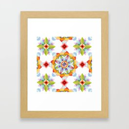 Beaux Arts Mandala Framed Art Print