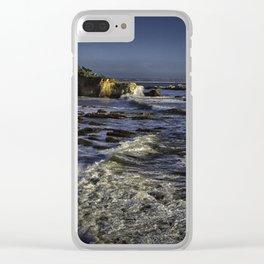 Shell Beach California Clear iPhone Case