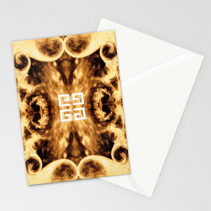 Givenchy antigona pouch with flames print Stationery Cards
