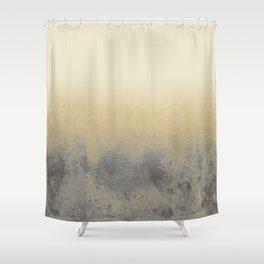 Gradient textured background blue gold beige tones Shower Curtain