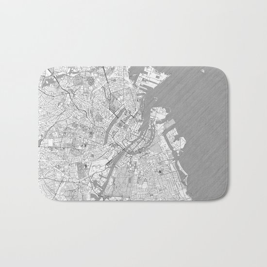 Copenhagen Map Line Bath Mat