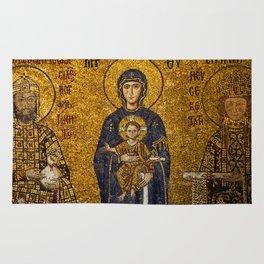 Mosaic Mary and Jesus Rug