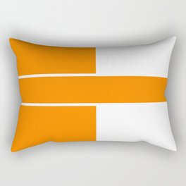Team Color 6...orange,white Rectangular Pillow