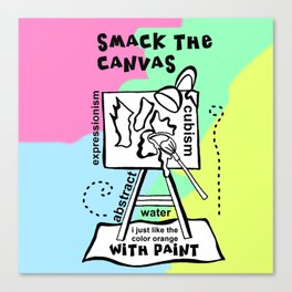 Smack the Canvas - Zine Page Canvas Print