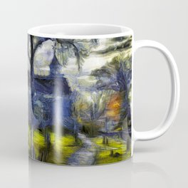 Sleepy Hollow Church Art Van Gogh Coffee Mug