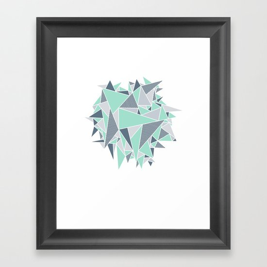 EXPLOSION-TRIANGLE Framed Art Print