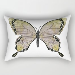 aubergine limelight swallowtail (Papilio linta) Rectangular Pillow