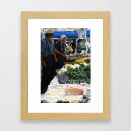 Farmers' Market 2 Framed Art Print