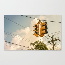 Bangin on a Streetlight Canvas Print