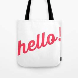 Pastel Pretty Word Art / HOLLA! / Urban Slang Tote Bag