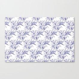 Lilium Speciosum (white) Canvas Print