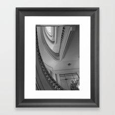 Looking up Framed Art Print