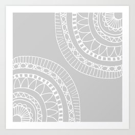 Bohemian Mandala Sketch Art Print