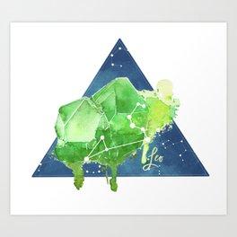 August Leo Constellation Crystal Art Print