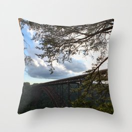 New River Bridge Throw Pillow