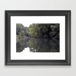 Pond in the Forest Framed Art Print