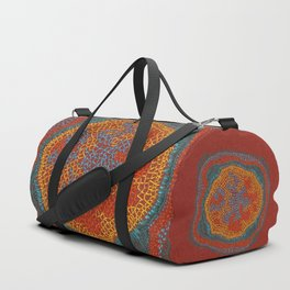 Growing - Lamium - plant cell embroidery Duffle Bag