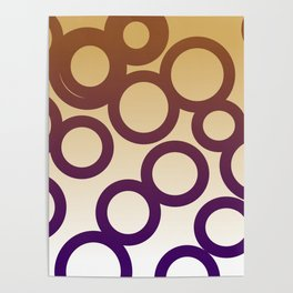 design elements Dots blue, gold Poster