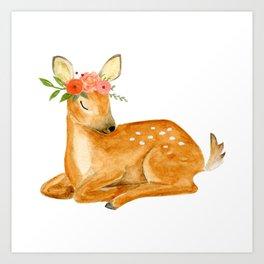 Baby deer Art Print