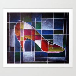 The Indecisive Shoe Art Print