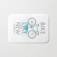 Bike like a new yorker Bath Mat