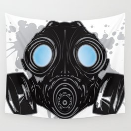 GAS_MASK_PROTECTION Wall Tapestry