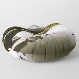 Fantastic Morning - Mount Hood Reflection Floor Pillow