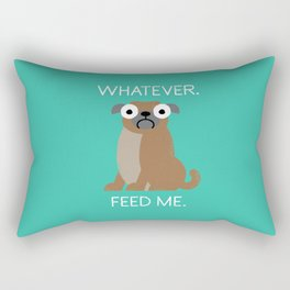 The Pugly Truth Rectangular Pillow