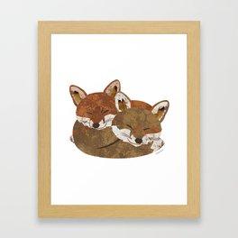 Shelter (Stacked Foxes) Framed Art Print